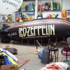The Led Zeppelin blimp in the ABC Inflatables workshop