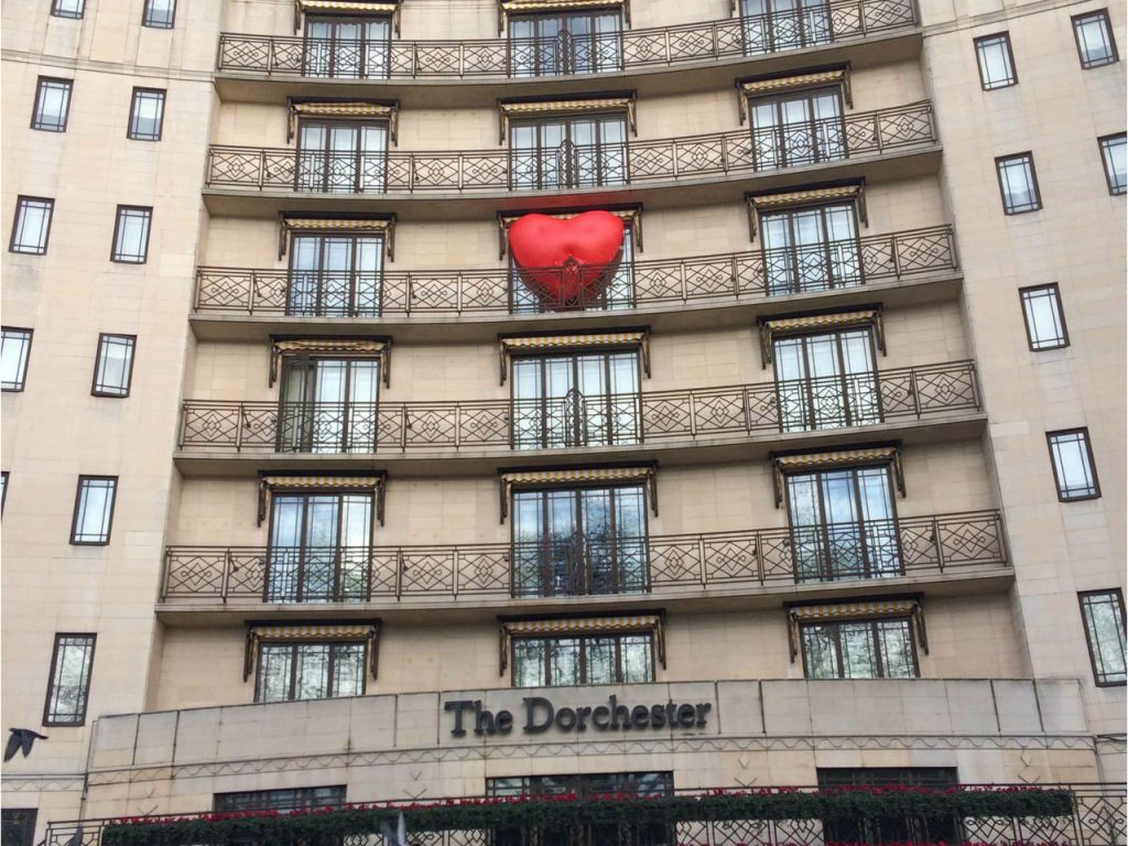 Inflatable Chubby Heart at Dorchester hotel